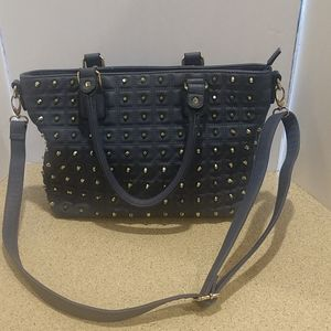 Vintage Versace V 1969 Blue studded Purse